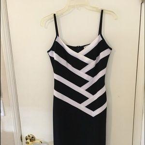 Joseph Ribkoff  Sexy Little Black & White Dress